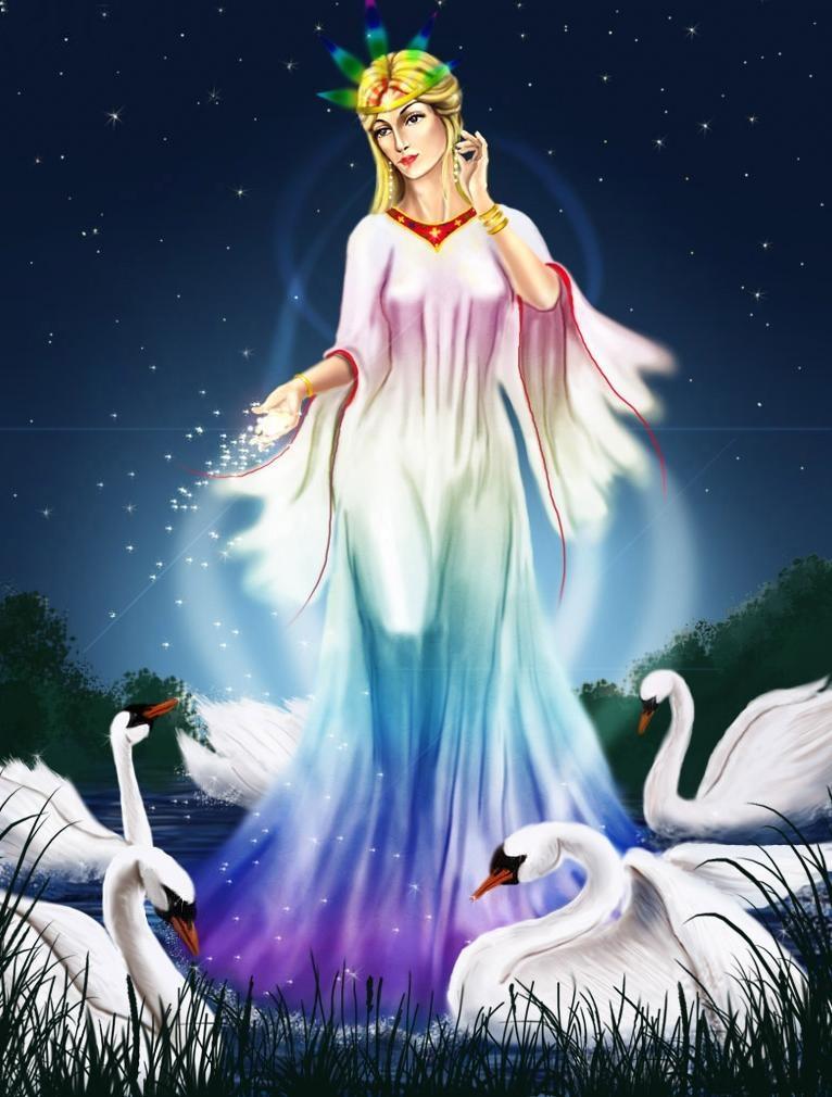 белый лебедь - символ лады
