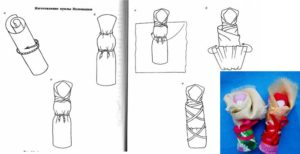 схема изготовления куколки пеленашки