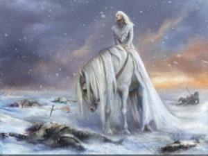 богиня смерти на поле боя