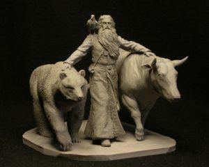 Велес изображался в сопровождении тотемных животных