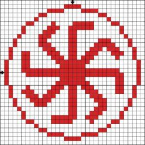 схема для вышивки знак громовик
