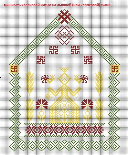 схема вышивки Макошь