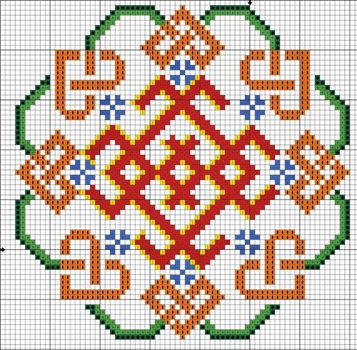 Схема вышивки знака белобог