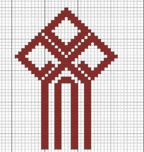 схема вышивки символа чур