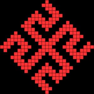 схема вышивки обережного символа