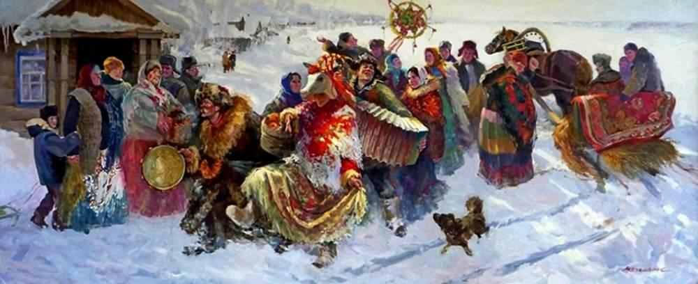 Коляда - древний славянский праздник встречи нового года.