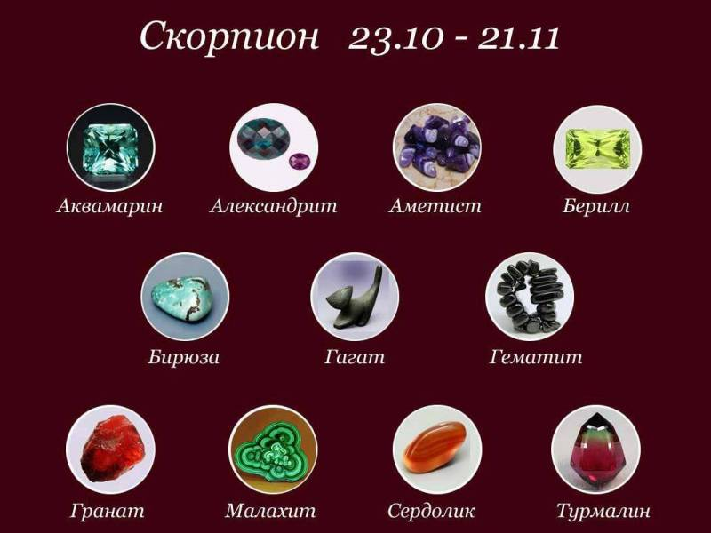камни для скорпионов