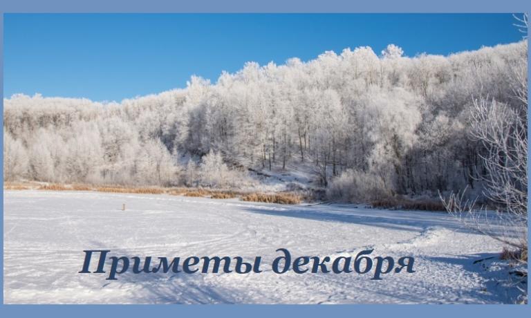природные приметы декабря